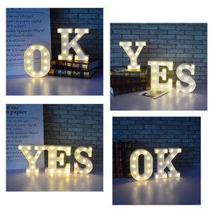Marquee Sign Alphabet LED Lamp (Available in 26 Letters)