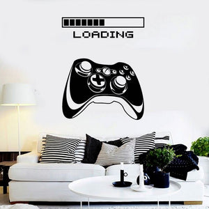 Progress Bar + Game Controller Design Wall Decal (12 Colors Available)