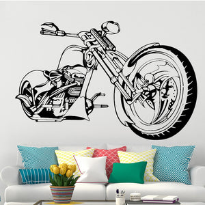 Motorbike Wall Decal (9 Colors Available)