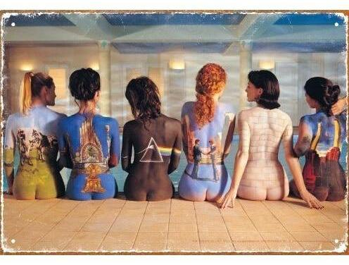 "Body-Painted Women's Back Vintage Tin Sign (8""x12"")"