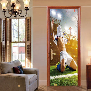 Soccer Player Peel & Stick Door Decal