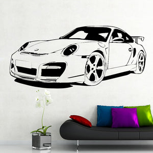 Roadster Car Wall Decal (9 Colors Available)