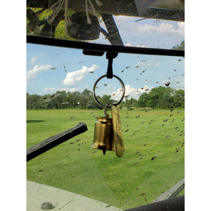 Bomber Bell attached to a rear view mirror