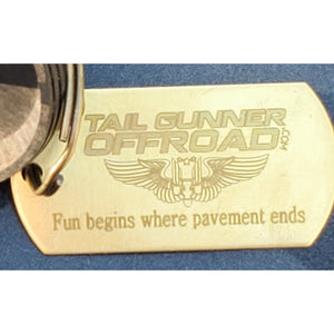 """Fun begins where pavement ends""  Key Chain"