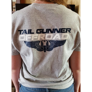 Tail Gunner Off-Road t-shirt in grey