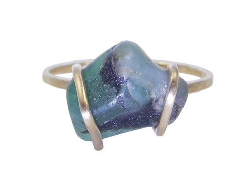 emerald recycled gold ring