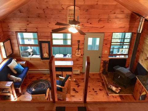 cabin view from loft