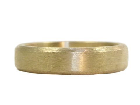 """Tradition"" recycled 14K heirloom gold wedding ring by Beryllina"