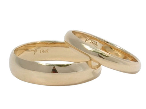 True Love 14K recycled gold eco-wedding rings by Beryllina