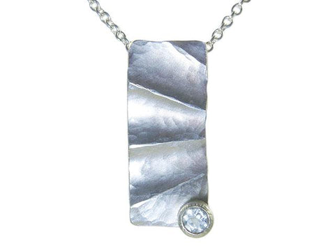 Pale Aquamarine Fluted Pendant