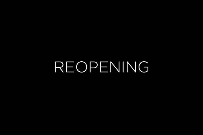We are reopening this week