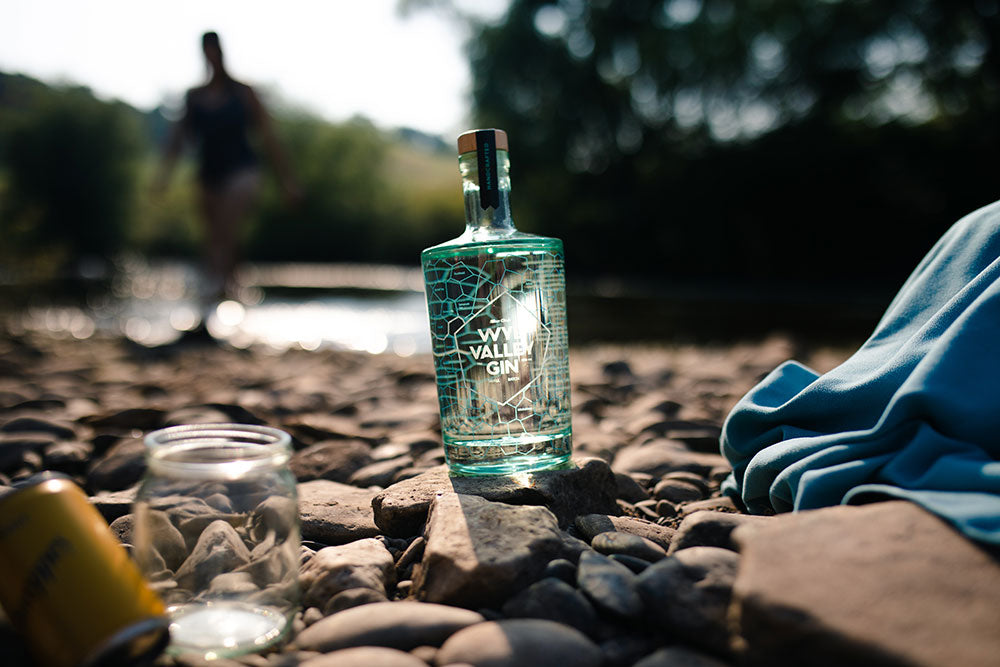 Wye Valley Gin after Wild Swimming