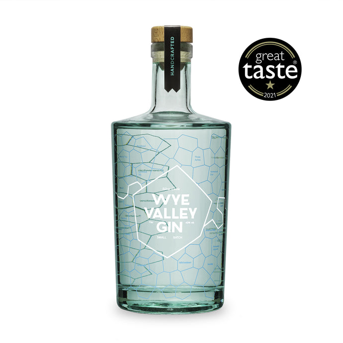 Wye Valley Gin - 70cl. Premium Welsh Gin. Craft Gin distilled in Monmouthshire.