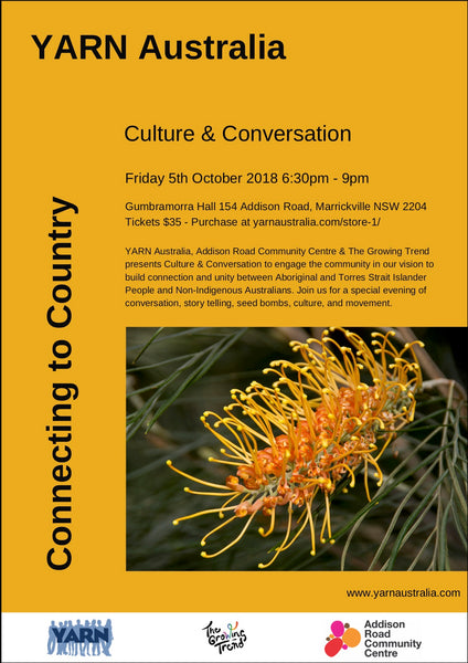 Yarn Australia Culture and Conversation Event, Marrickville community Centre