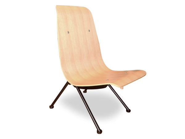 Lounge Chair - Jean Prouve Replica - Natural Veneer