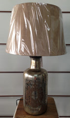 French Mercury Lamp with suede look shade