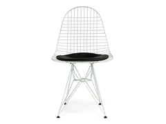 Wire Dining Chair Replica - White frame Black Seat
