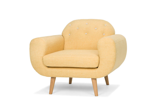 Mustard Fabric Armchair