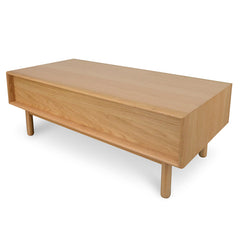Coffee Table With Drawers - Natural