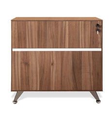 2 Drawer Filing Cabinet - Walnut
