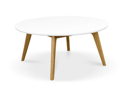 Round Coffee Table - White Top