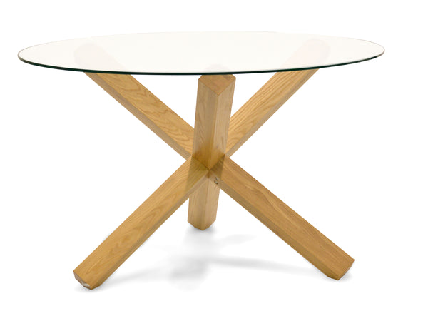 1.2m Round Dining Table - Glass Top