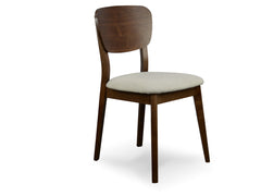 Veneer Dining Chair - Fabric Seat - Walnut