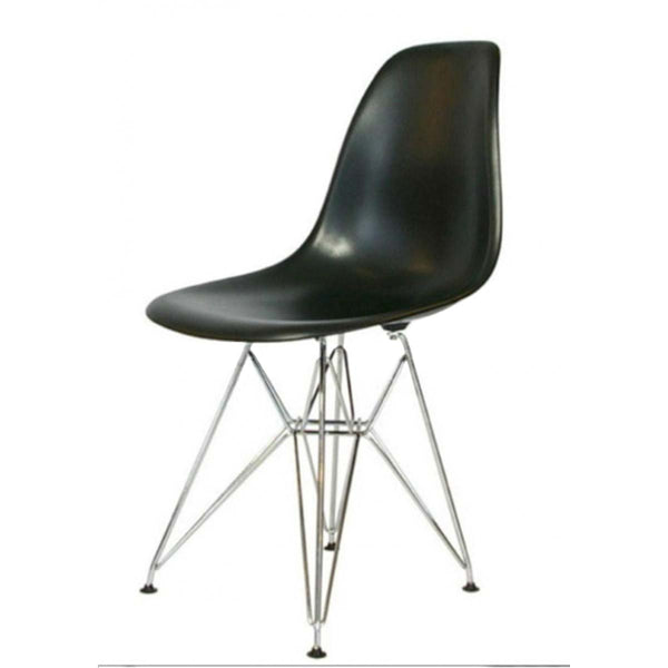 Side Dining Chair - Eames Replica - Eiffel Base - Black