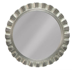 Brisbane Silver Round Wall Mirror