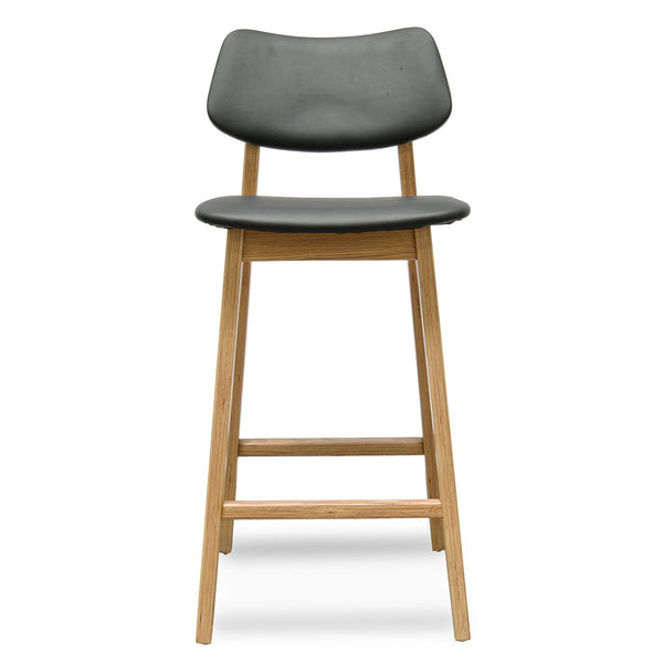 Yoki Bar Stool - Black - Natural