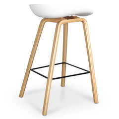 Bar Stool in White And Natural