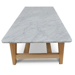 Rectangular Marble Coffee Table - Natural