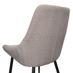 Dining Chair in Brown Grey
