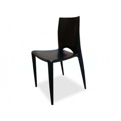 Stacking Dining Chair Replica - Black
