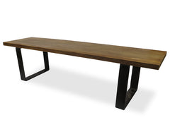 1.7m Long Solid Elm Wood Bench