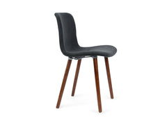 Dining Chair Charcoal Fabric and Walnut Legs
