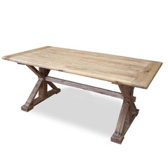 Winston Dining Table 1.98m - Rustic Natural