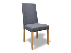 Scandinavian Dining Chair - Steel Grey