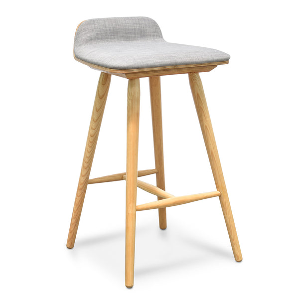 Bar Stool - Grey - Natural