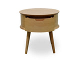 Scandinavian Lamp Side Table - Natural