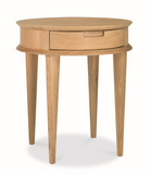 Scandinavian Lamp Side Table with Drawers - Natural