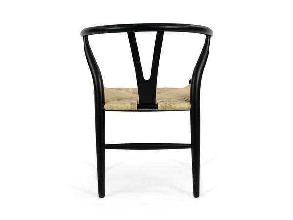 Dining Chair - Black - Natural Seat