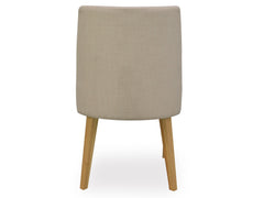 Ella Scoop Upholstered Dining Chair - Beige