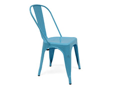 Light Blue Metal Chair