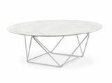 Marble Coffee Table With White Base