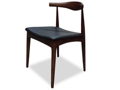Elbow Dining Chair - Hans Wegner Replica - Dark Brown