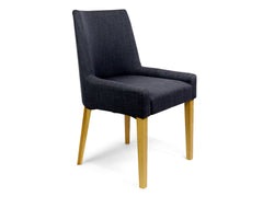 Ella Scoop Back Steel Upholstered Dining Chair