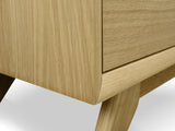 Scandinavian 2 Drawer Wooden Bedside Table