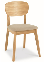 Veneer Dining Chair - Fabric Seat