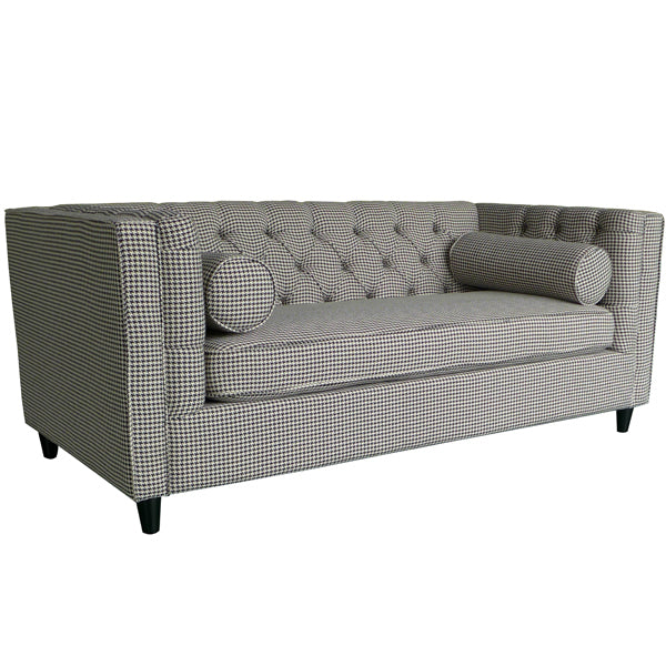 Ascot 2 Seater Sofa Houndstooth